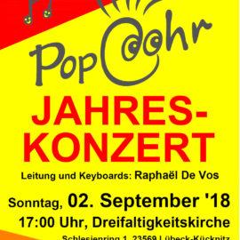 Locker, beschwingtes PopcOhr-Jahreskonzert 2018